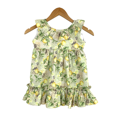 Baby Idarella Lime Print Dress