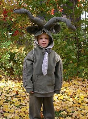 handmade halloween costume kudu