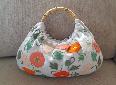 Poppy Pattern Purse