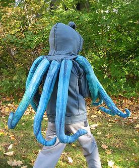 handmade halloween costume octopus