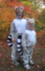 handmade halloween costume lemur