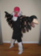 handmade halloween costume vulture