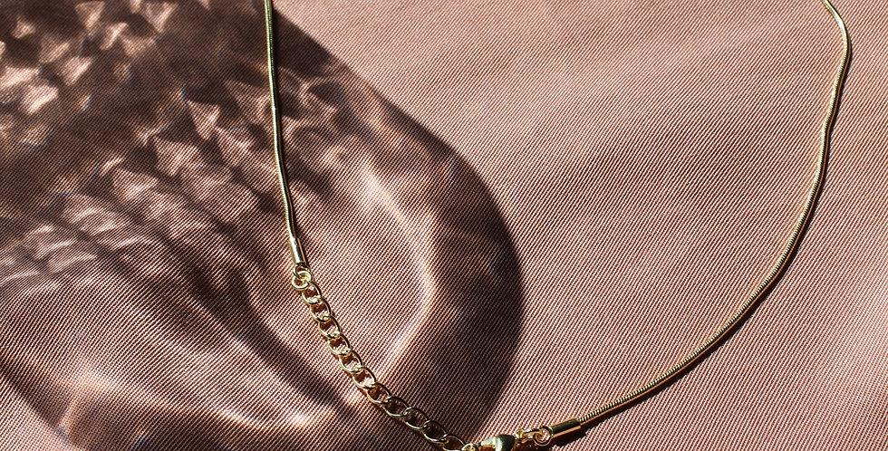 Tiles oval - Kette gold