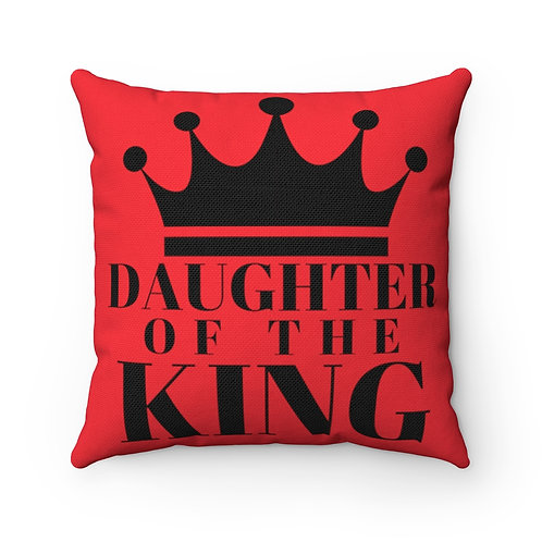 DAUGHTER Of THE KING Pillow (Red/Black)