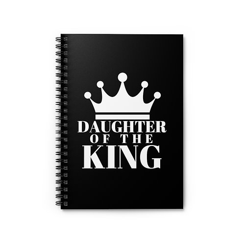 Daughter of The King Spiral Notebook  (Blk&Wht)