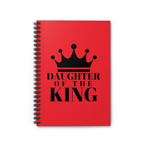 Daughter of The King Spiral Notebook (Red/Blk)