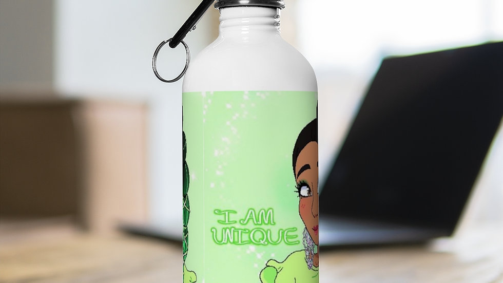 I AM UNIQUE Stainless Steel Water Bottle
