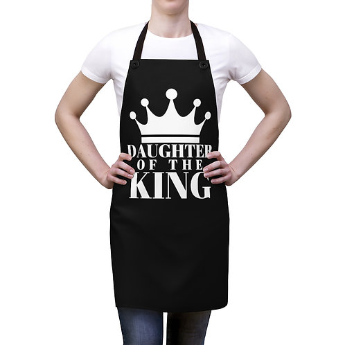 DAUGHTER Of THE KING Apron (Black/White)