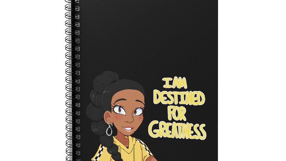 I AM DESTINED Spiral Notebook - Ruled Line