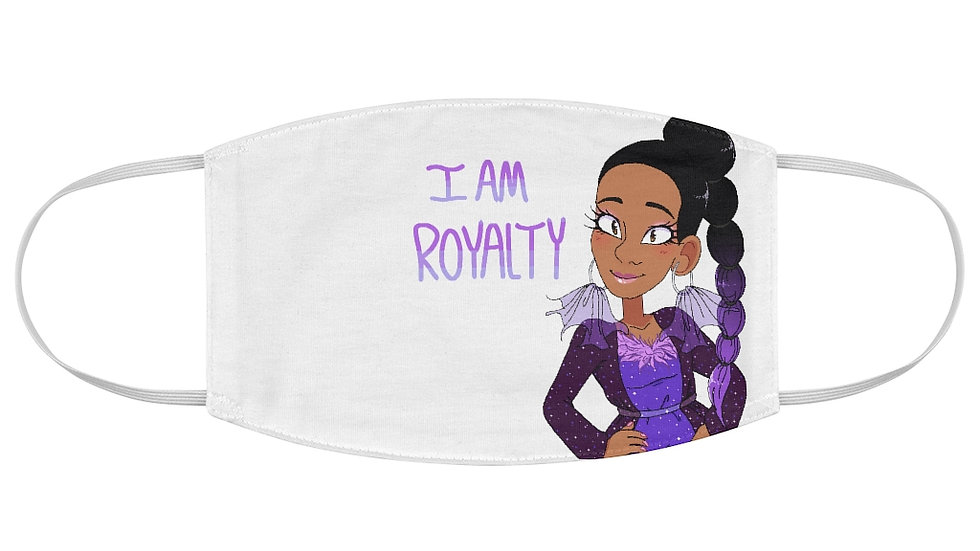 I AM ROYALTY Fabric Face Mask