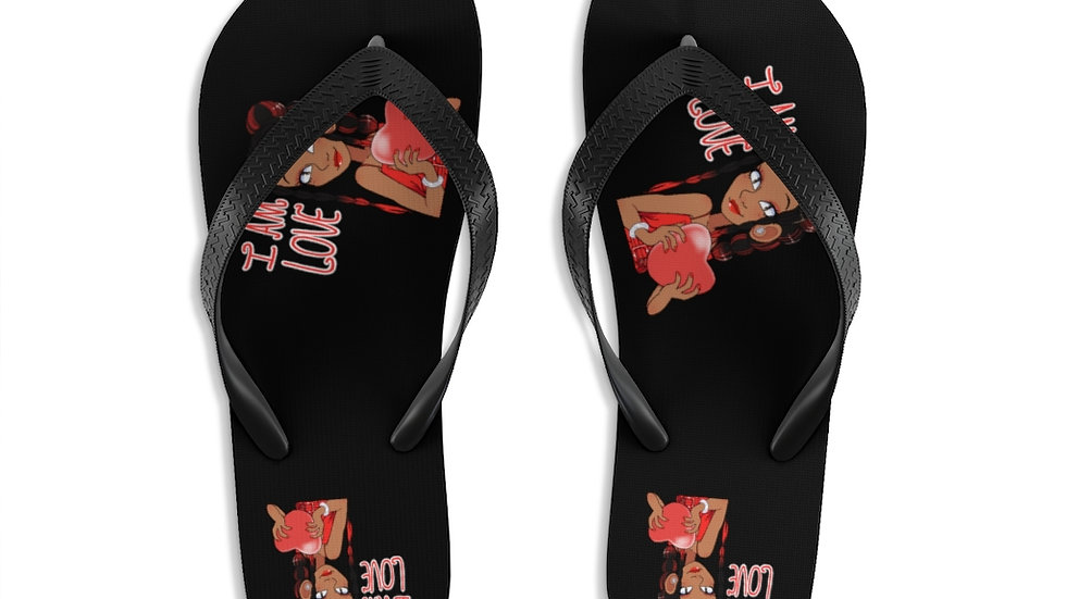 I AM LOVE Flip-Flops