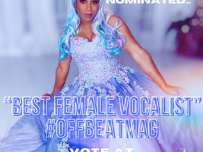 "Casmè NOMINATED ""BEST FEMALE VOCALIST"" in NOLA by OFFBEAT MAGAZINE! (#25 on the ballot form)"