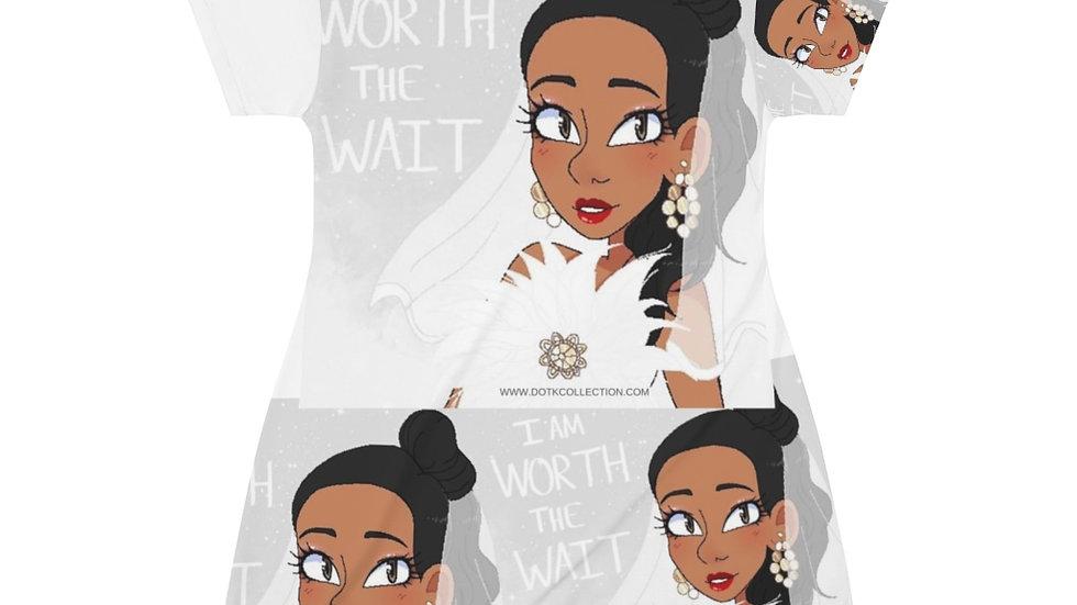 WORTH THE WAIT Pajama Dress (Print All Over)