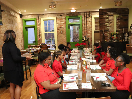 CASME' teaches Fine Dining & Etiquette to DOTK Girls Club @ Vyoone's!!