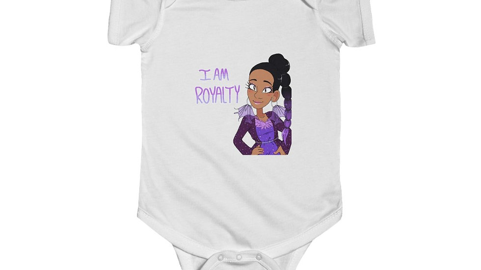 I AM ROYALTY Baby Jersey Bodysuit