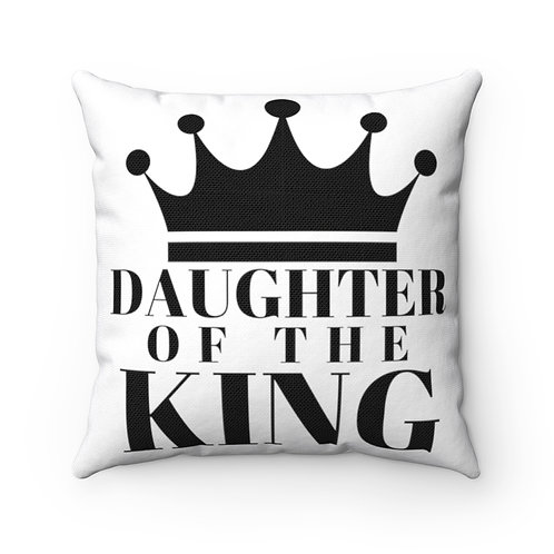 DAUGHTER Of THE KING Pillow (White/Black)