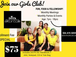 CASME'S GIRLS CLUB IS ENROLLING NOW!