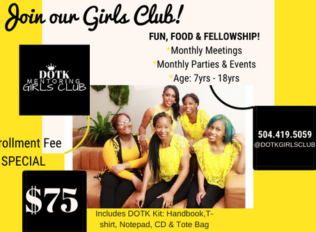 CASME'S GIRLS CLUB IS ENROLLING NOW!