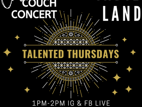 TALENTED TUESDAYS & THURSDAYS!! TODAY ON CASME'S COUCH!