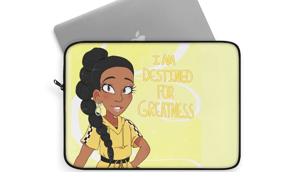 I AM DESTINED  Laptop Sleeve (Yellow)