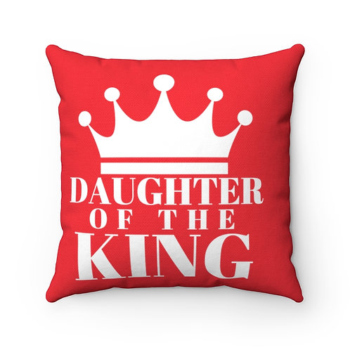 DAUGHTER Of THE KING Pillow (Red/White)