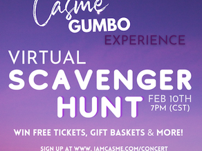 Join us for our 1st of many Virtual  Scavenger Hunts FEB 10TH @7PM!