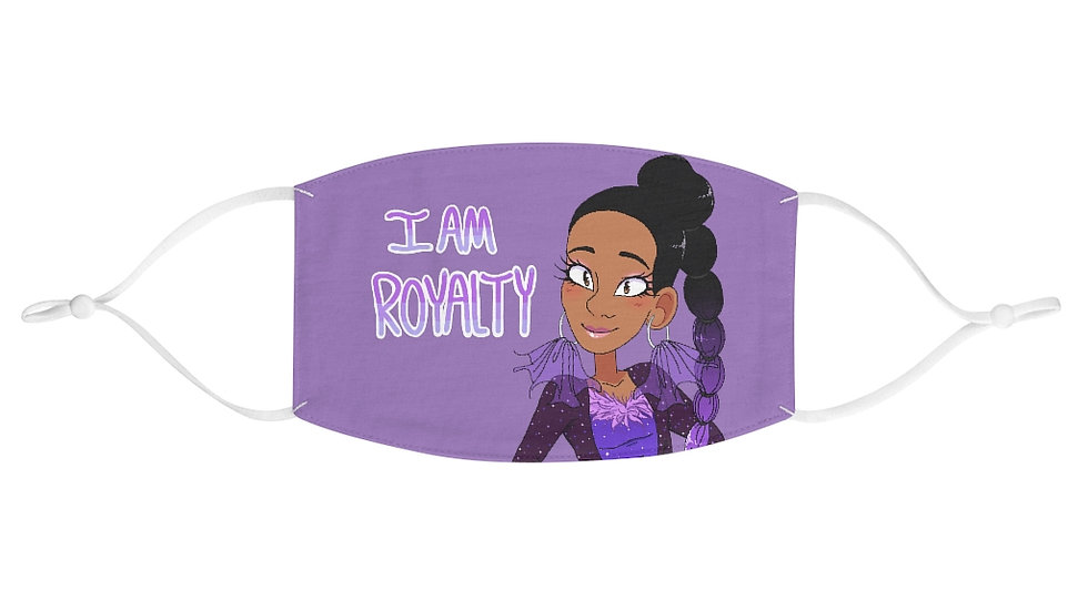 I AM ROYALTY Fabric Face Mask (Purple)