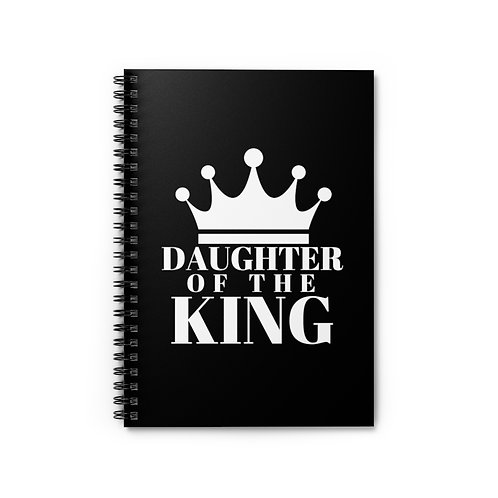 Daughter of The King Spiral Notebook (Blk/Wht)