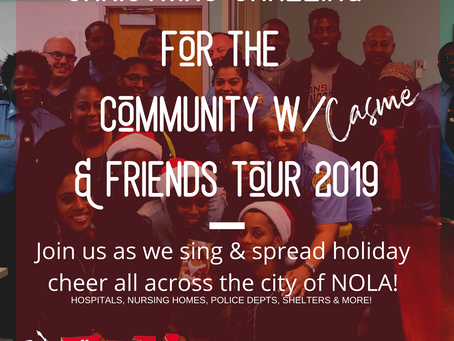 CHRISTMAS CAROLING FOR THE COMMUNITY! JOIN HER!