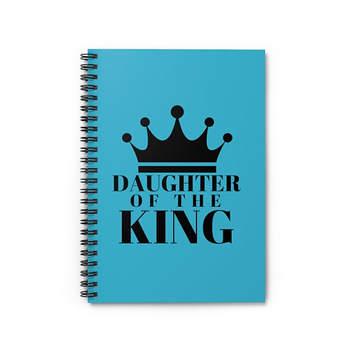 Daughter of The King Spiral Notebook (Turq/Black)