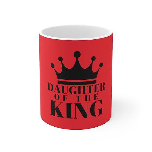 Daughter of The King Ceramic Mug (Red/Blk)