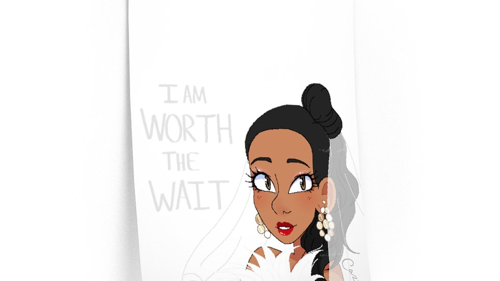 WORTH THE WAIT Wall Decal (24x36)
