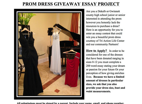 PROM DRESS GIVE AWAY!! (TRI ACTION LIFE CENTER)