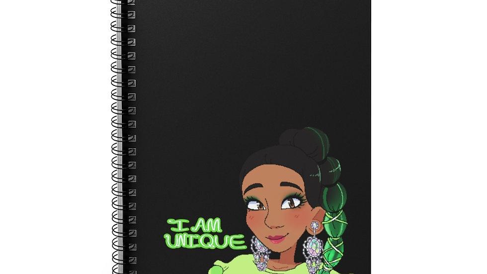 I AM UNIQUE Spiral Notebook