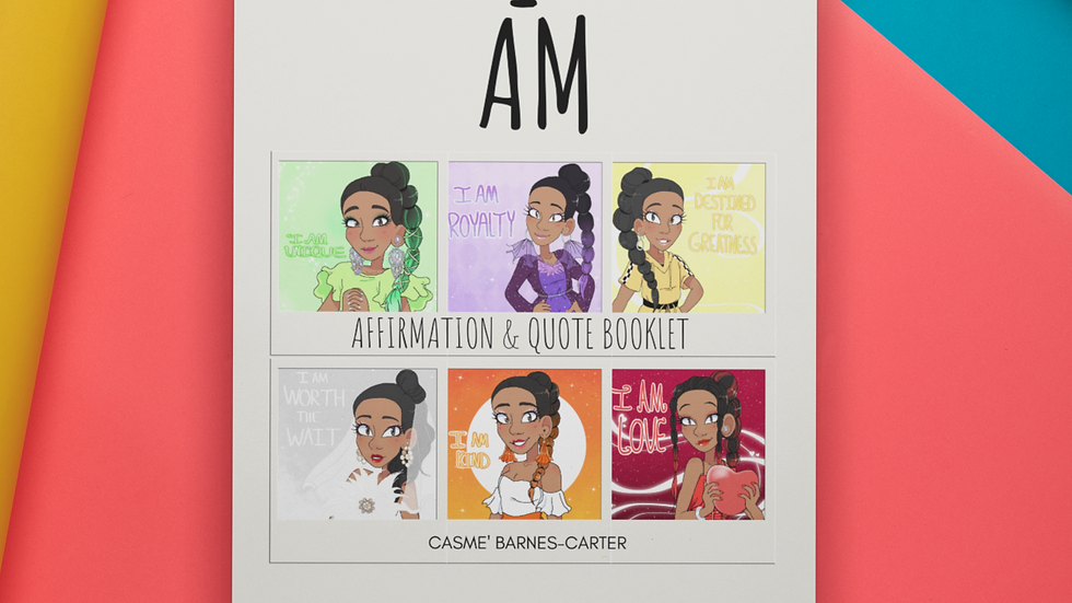 "(Digital) ""I AM"" Affirmation & Quote Booklet  (8pgs)"