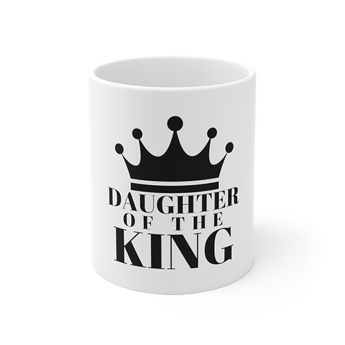 Daughter of The King Ceramic Mug (Wht/Blk)