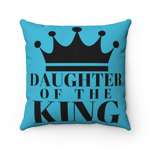 DAUGHTER Of THE KING Pillow (Turq/Black)