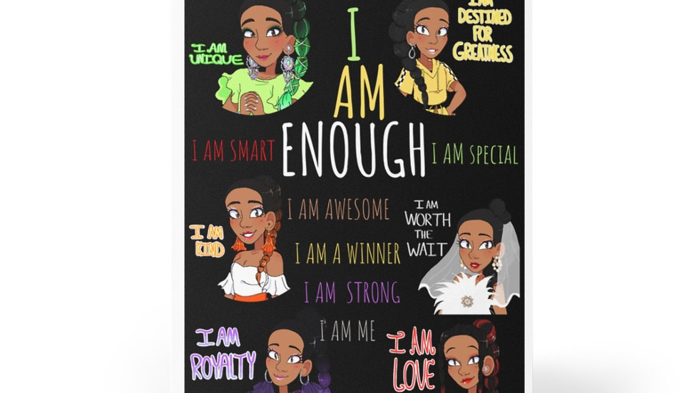I AM ENOUGH Greeting Cards (8 pcs)