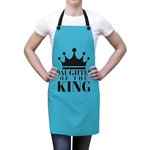 DAUGHTER Of THE KING Apron (Turq/Blk)
