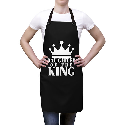 DAUGHTER Of THE KING Apron (Blk/White)