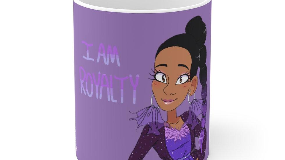 I AM ROYALTY Hot Chocolate Mug (Purple)