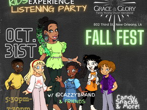 #CASMEGUMBO Experience returns! It's for the KIDS at GRACE&GLORY'S FALL FEST!