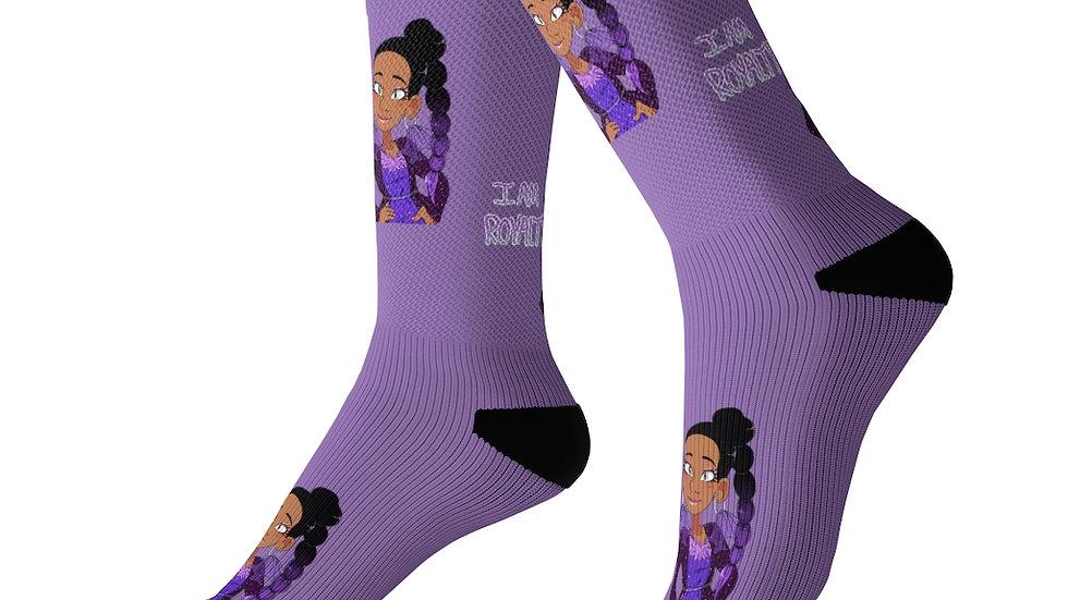 I AM ROYALTY Socks (Purple)