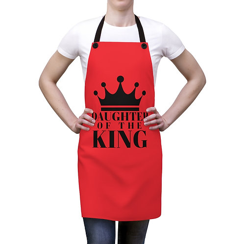 DAUGHTER Of THE KING Apron (Red/Blk)