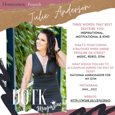 NATIONAL AMBASSADOR & FITNESS GURU: Julie Anderson