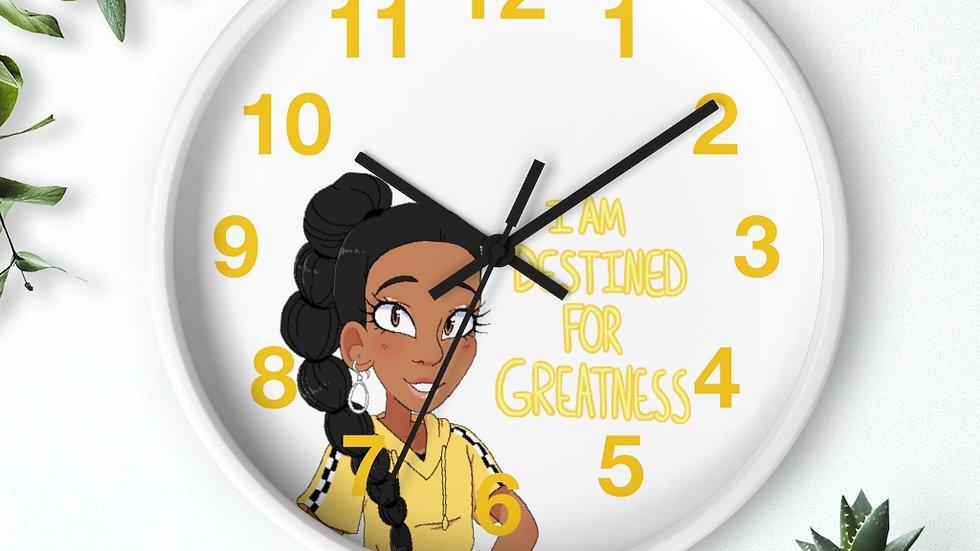 I AM DESTINED Wall clock