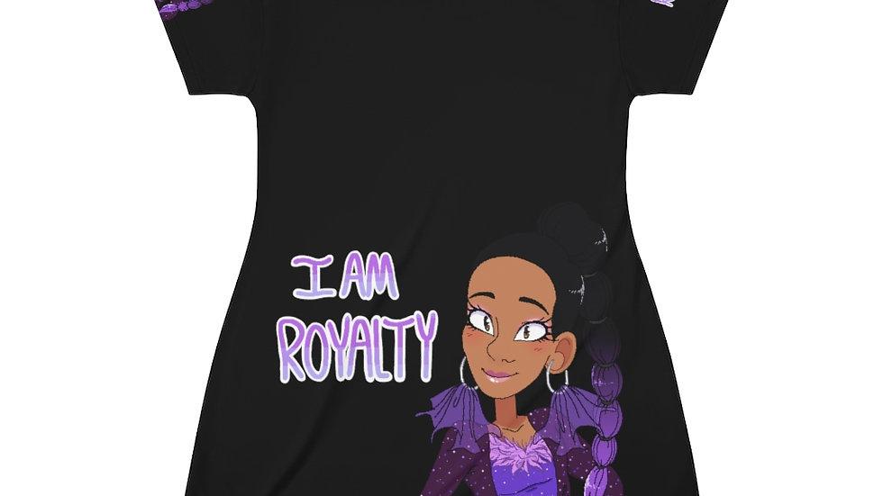 I AM ROYALTY Pajama Dress (Black)