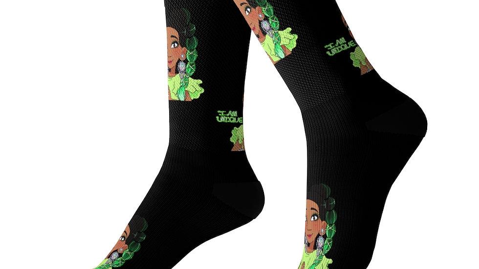 I AM UNIQUE Socks (Black)
