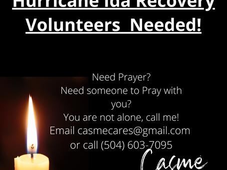 Hurricane Ida Recovery Volunteers  Needed!