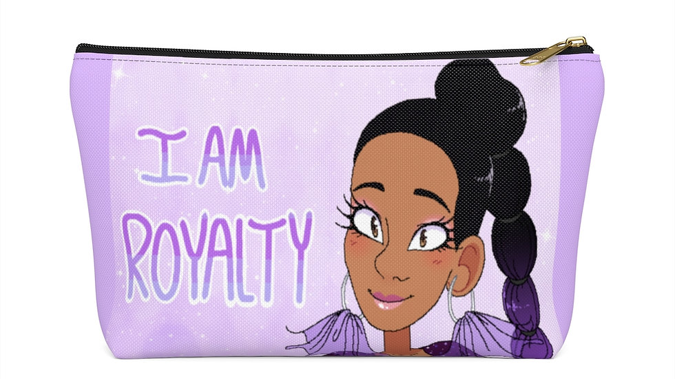 I AM ROYALTY Accessory Pouch w T-bottom